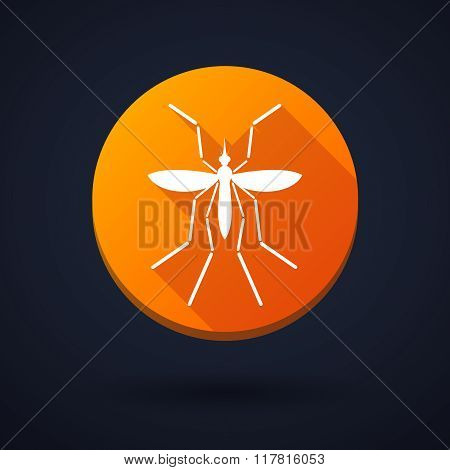 Zika Virus Bearer Mosquito  In A Round Icon