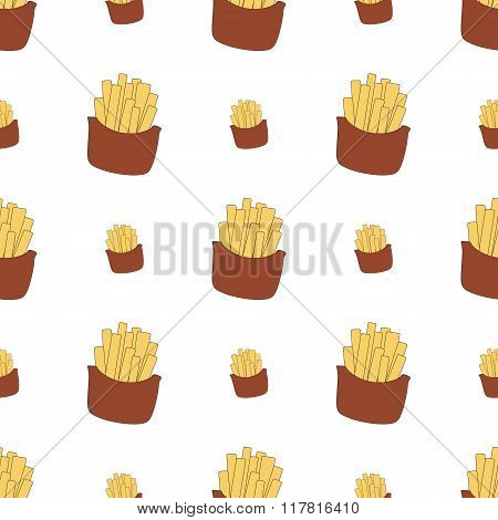 Fast Food Seamless Vector Illusrtations