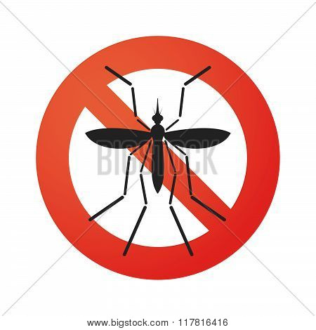 Zika Virus Bearer Mosquito  In A  Forbidden Signal