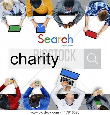 Charity Donate Giving Help Assistance Support Concept