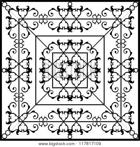 Wrought Iron Fireplace Grill Raster Art