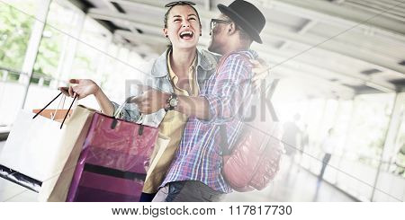 Buying Shopping Bag Customer Merchandise Sale Concept