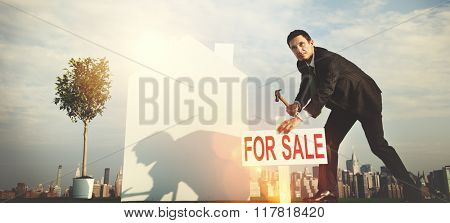 Businessman Investor Construction Sale Property Concept