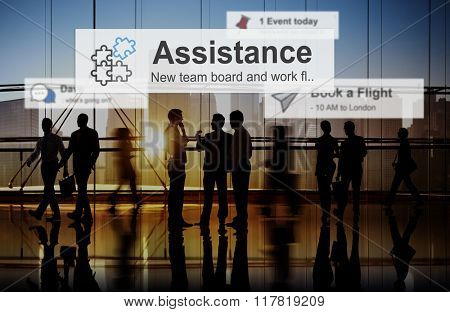Assistance Support Help Care Giving Concept