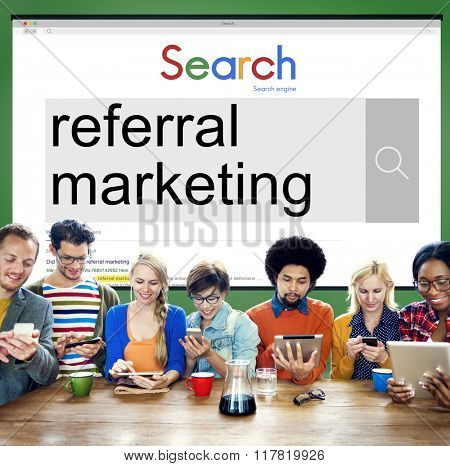Referral Marketing Referral Advertisement Client Concept