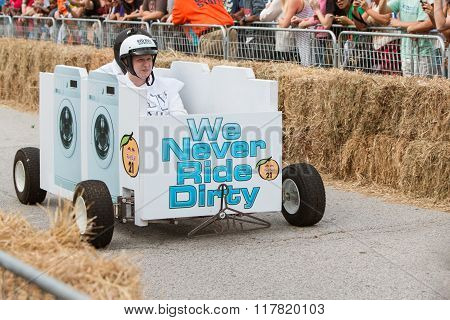 Team Races Washing Machine Vehicle In Atlanta Soap Box Derby