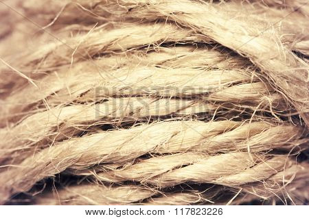 Close up macro textile thread texture photo