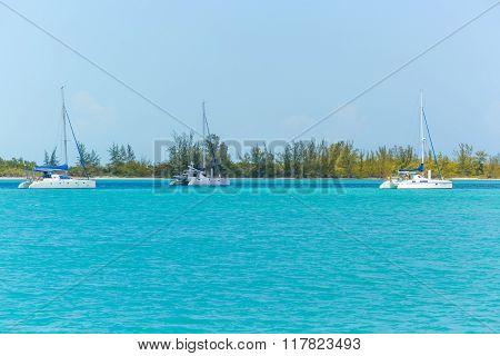 Three Catamarans at the beach