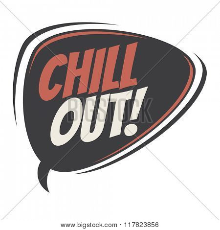 chill out retro speech balloon