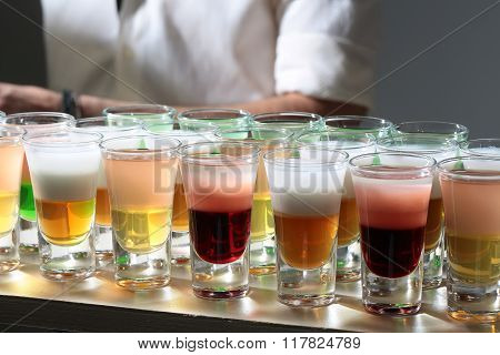 Many Multicolored Tasty Shots