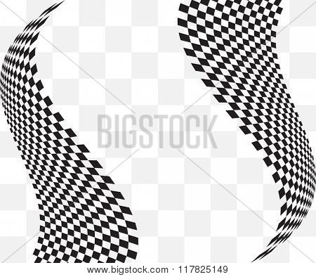 Checkered Background Design Raster Illustration