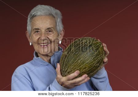 Senior Woman With Melon