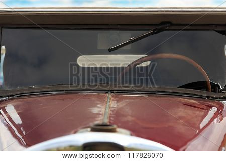 Closeup Of Antique Car