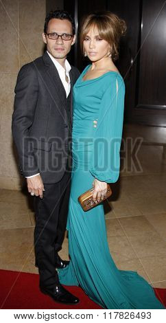 Marc Anthony and Jennifer Lopez at the 2009 Noche De Ninos Gala held at the Beverly Hilton Hotel in Beverly Hills, USA on May 9, 2009.