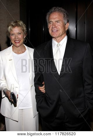 Annette Bening and Warren Beatty at the 2009 Noche De Ninos Gala held at the Beverly Hilton Hotel in Beverly Hills, California, United States on May 9, 2009.