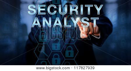 Cyber Investigator Touching Security Analyst