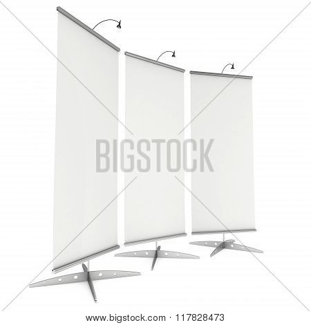 Blank Roll Up Expo Banner Stand.