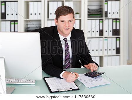 Man Holding Cardboard