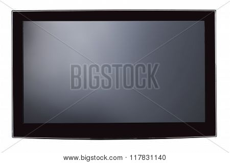 Closeup Of Flat Screen Television