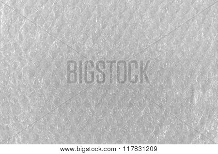 Bubble Wrap Texture Abstract Background, Detailed Textured Horizontal Macro Closeup, Bright White
