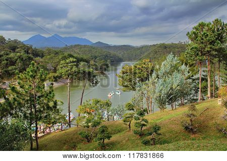 DALAT, VIETNAM - 04 DECEMBER 2011: Love valley is one of the most romantic sites of  Dalat