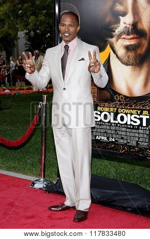 Jamie Foxx at the Los Angeles premiere of the