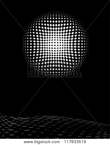 Background Composition, Web Template (Halftone) Raster Art