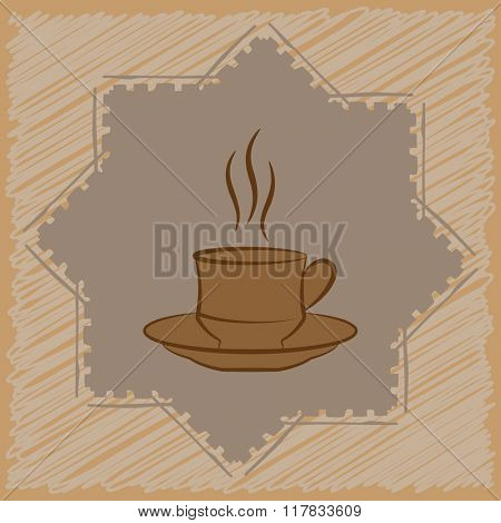 Coffee Tea Menu Card Design Template Raster Illustration