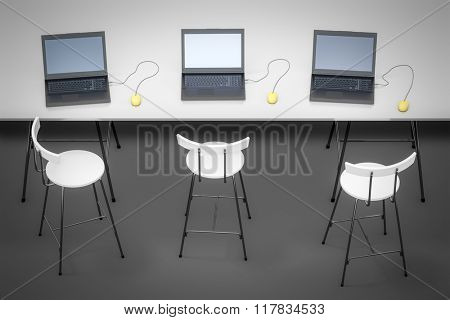 An image of three notebooks on a table