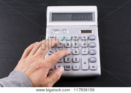 Calculation on calculator