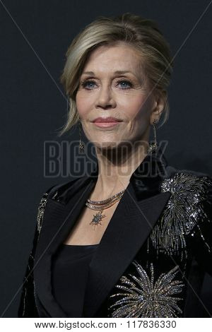 LOS ANGELES - FEB 10:  Jane Fonda at the SAINT LAURENT At The Palladium at the Hollywood Palladium on February 10, 2016 in Los Angeles, CA