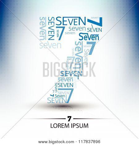 Character Sort For Number Seven Logo Vector Future Technology Design