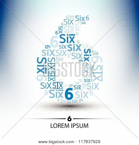 Character Sort For Number Six Logo Vector Future Technology Design