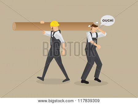 Accident At Work Vector Illustration