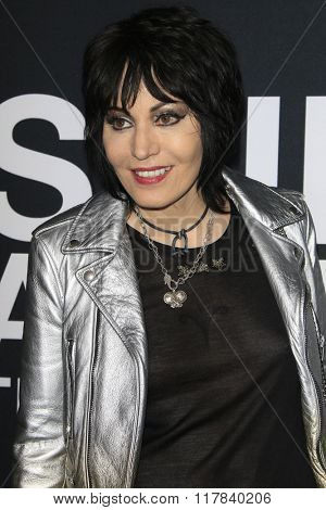 LOS ANGELES - FEB 10: Joan Jett arrives at the Saint Laurent fashion show at the Hollywood Palladium on February 10, 2016 in Los Angeles, California