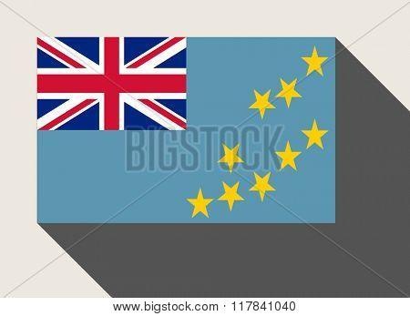 Tuvalu flag in flat web design style.