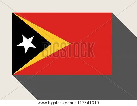 East Timor flag in flat web design style.