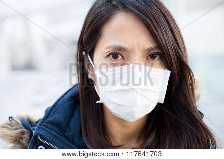 Asian Woman wear medical mask