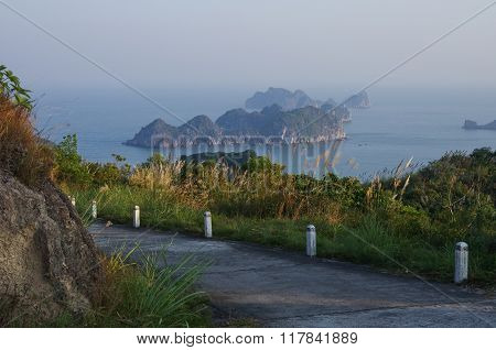 View To Ha Long Bay From Cannon Fort Of Cat Ba Island, Vietnam