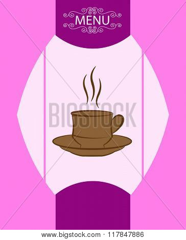 Coffee Tea Menu Card Design Template Raster Illustration