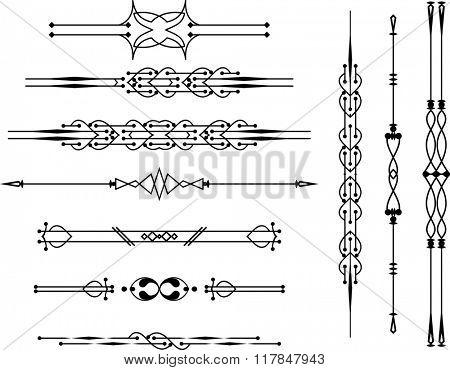 Text Divider Ornamental Design Raster Illustration
