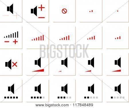 Speaker Icon Symbol Raster Illustration