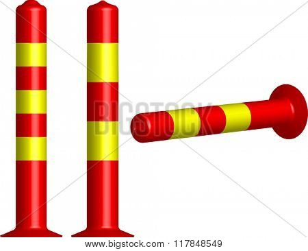 Traffic Bollard Cone Raster Illustration