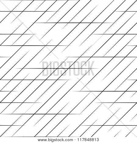 Seamless  Line Pattern. Vector Monochrome Texture