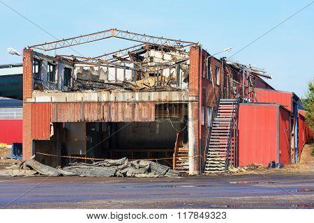 Burnt Industrial Building