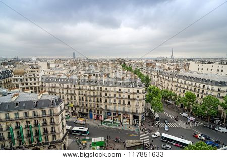 Paris, France - May 15, 2015: People On The Street Near Madeleine Church