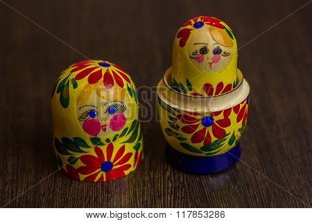 Matryoshka, a Russian wooden doll