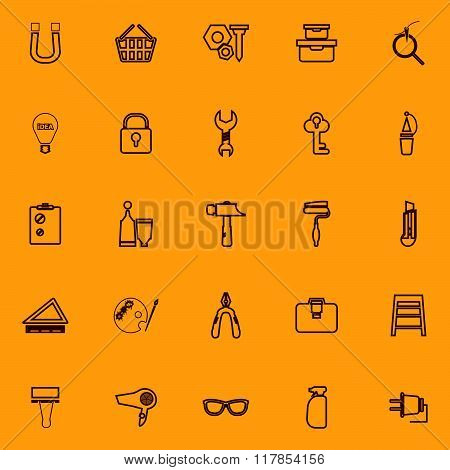 Diy Brown Line Icons