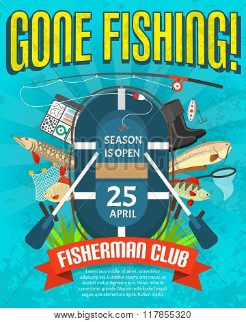 Fishing Poster  With Date Of Season Opening