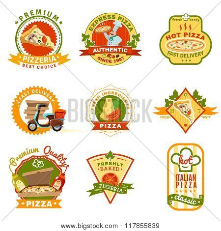 Pizza Emblems Set